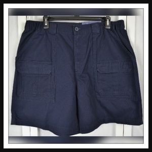 NWT Croft & Barrow Blue Comfort Waist Cargo Shorts